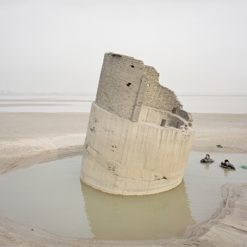 Zhang Kechun People Fishing By The River Shanxi