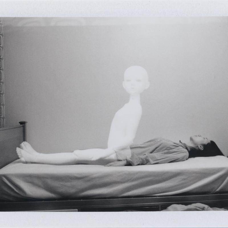 钱儒雅 《我们》  Qian Ruya Us  富士撕拉片、亚克力管、鱼线/双重曝光、真丝喷墨打印  Fuji packfilm, plastic tubes, fish wires / double exposure, silk inkjet prints  2011—2015