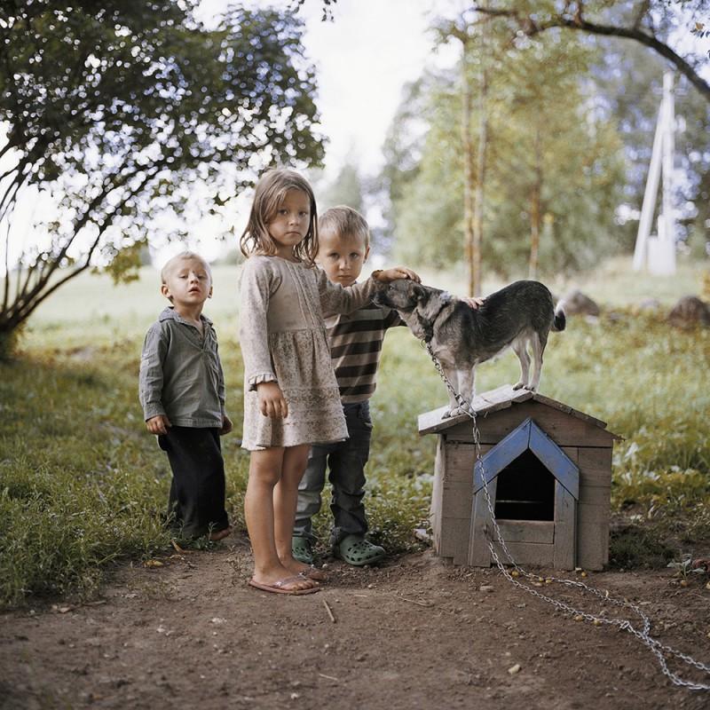 Children. Laumėnai, Ukmergė district. 2016