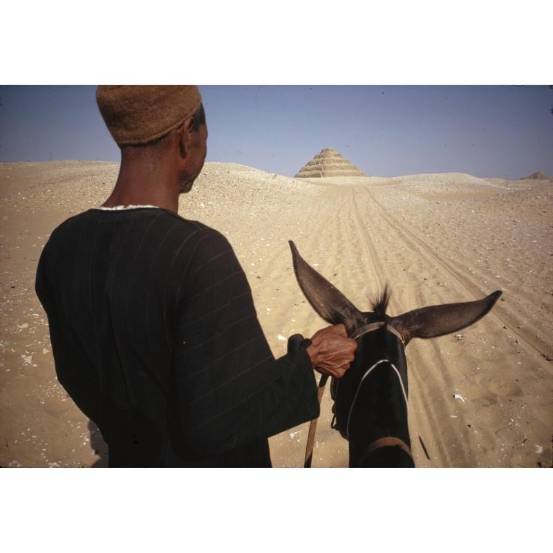 René Burri, Egypt, Saquara near Cairo, first pyramid known to man, 1962.