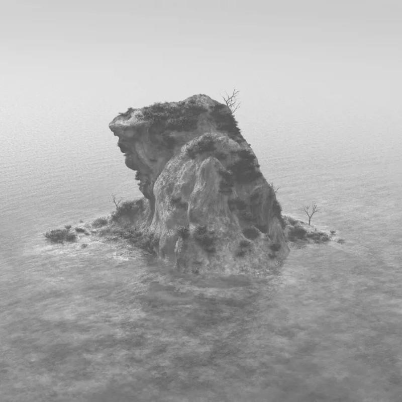 """《浮玉No.1—来自""""千里江山图""""的写生》 全数字虚拟技术 110 x 150 cm"""