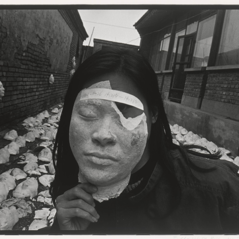 "荣荣,《北京东村 1994No.70》 (苍鑫,《踩脸》), 1994 RongRong, East Village Beijing 1994 No. 70 (Cang Xin, ""Tramping on Faces""), 1994"