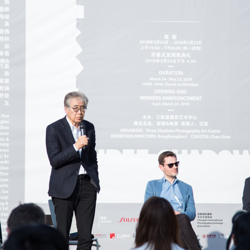 南条史生致辞 Fumio Nanjo gave a speech