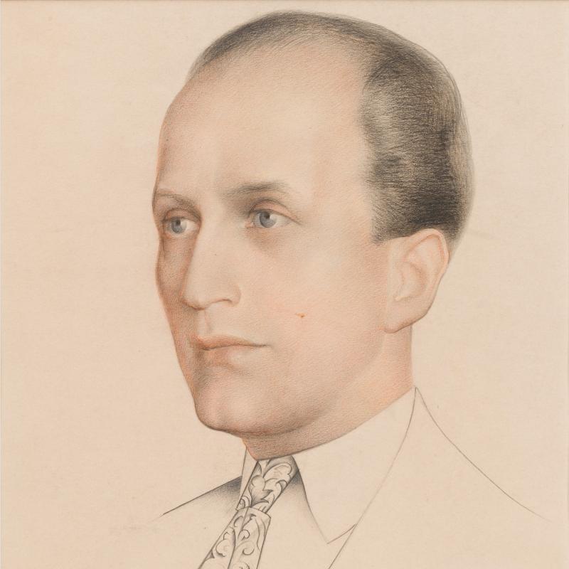 Simka Simkhovitch, Head of a Gentleman, 1926
