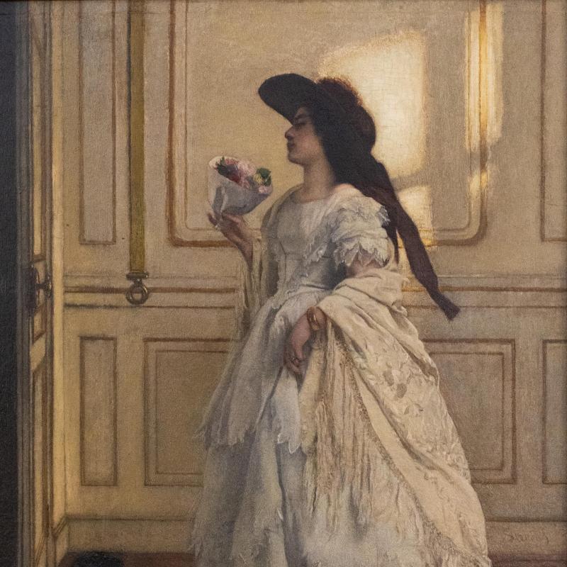 Alfred Emile Leopold Stevens, Le Bouquet, 1855-1860
