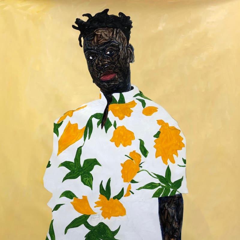 Amoako Boafo, Sunflower Shirt, 2019.