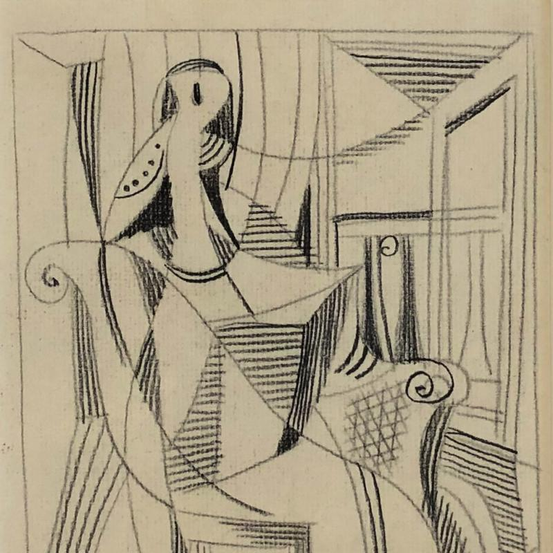 Carl Holty, Seated Figure I, 1933