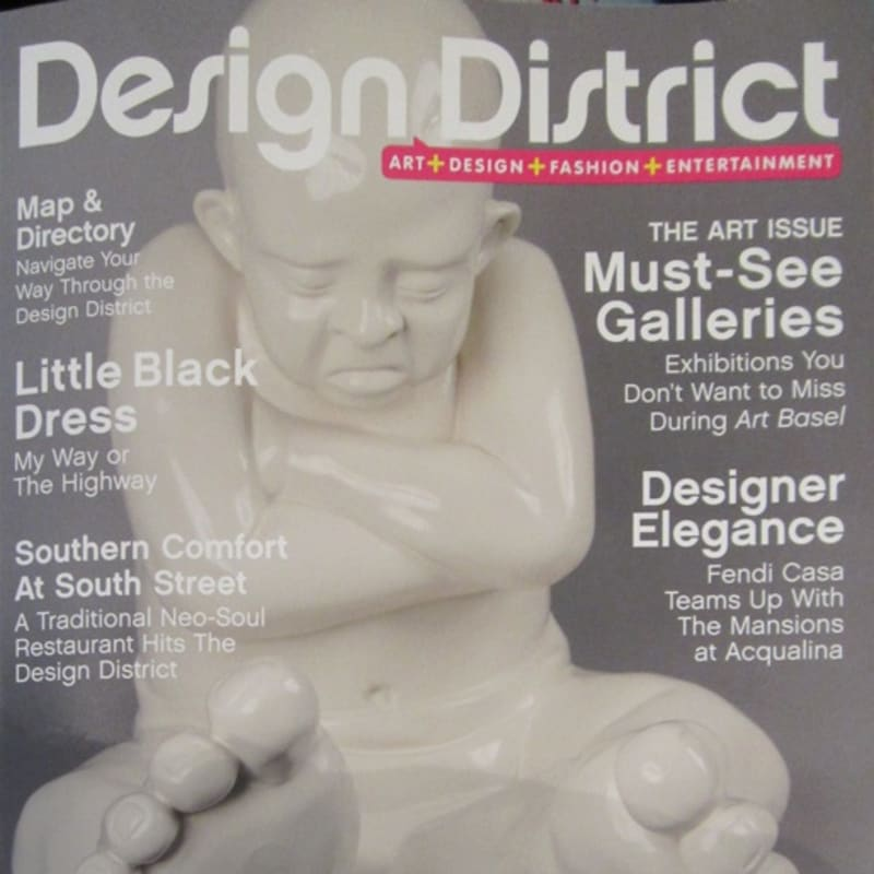 Babyfoot featured on the cover of Design District 2012