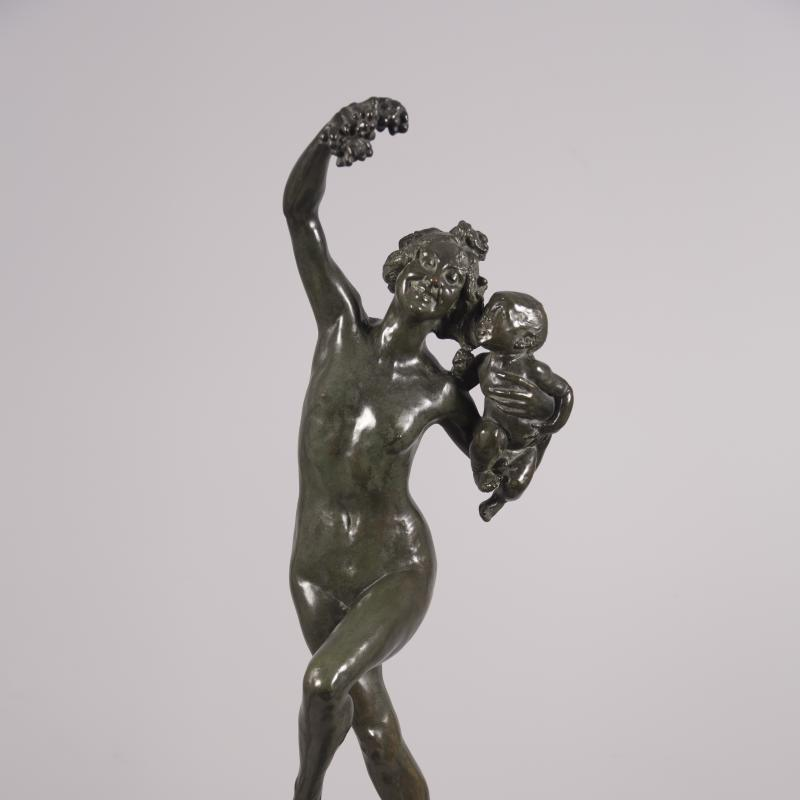 Frederick William MacMonnies, Bacchante with Infant Faun, 1894
