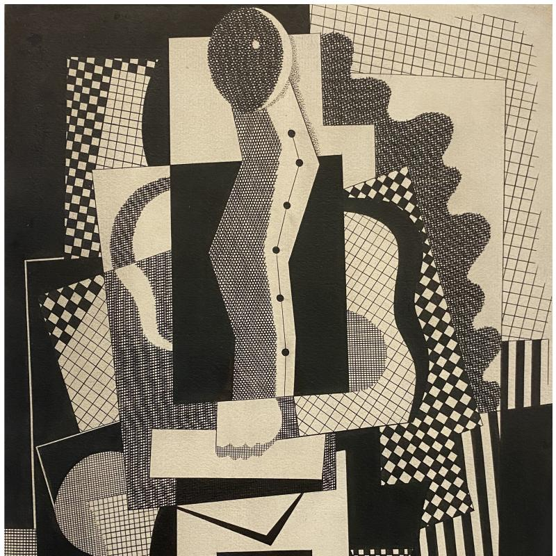 Carl Holty, Cubist Figure, c. 1930