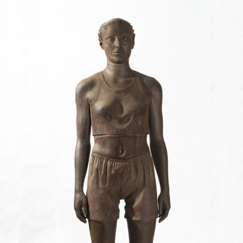 Diana Moore Full Figure No. II (Athlete) 1995 Carbon steel on aluminum base Overall: 90 x 22 x 16 in. (228.6 x 55.9 x 40.6 cm)