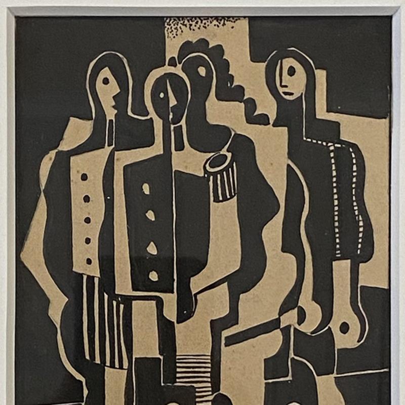 Carl Holty, Paris Four Figures, 1930