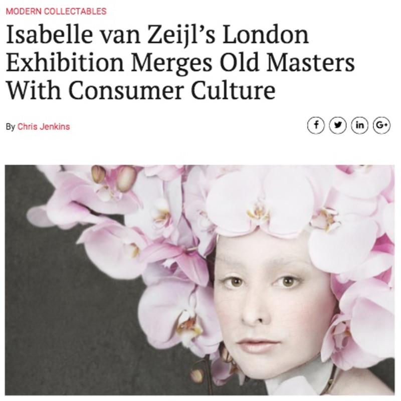 Isabelle van Zeijl's debut solo show featured on Arts & Collections