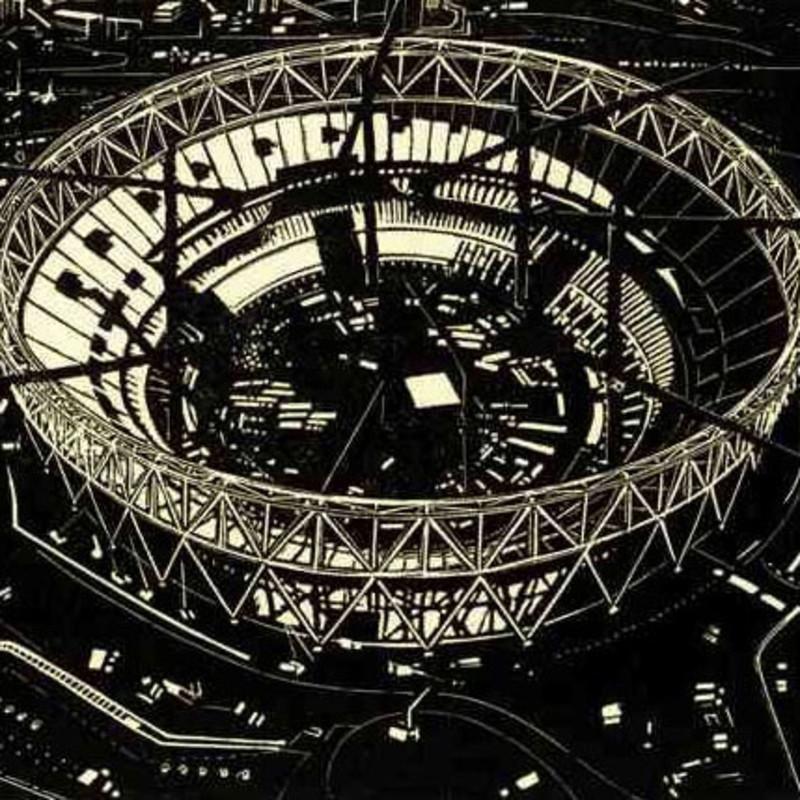 Olympic Stadium with Cranes