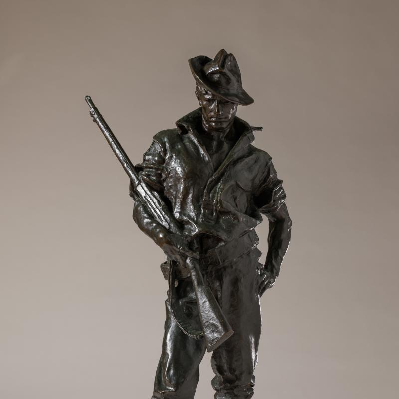 Allen George Newman, The Hiker, modeled 1904, this cast 1910