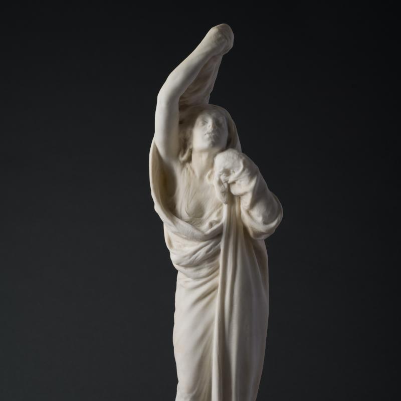 Gutzon Borglum , Draped Woman, 1902-1915