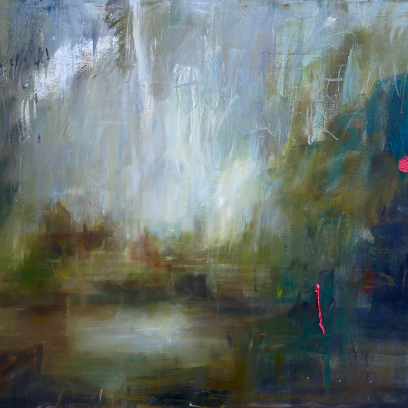 Jake Wood-Evans, Dedham Lock and Mill, after Constable, 2017