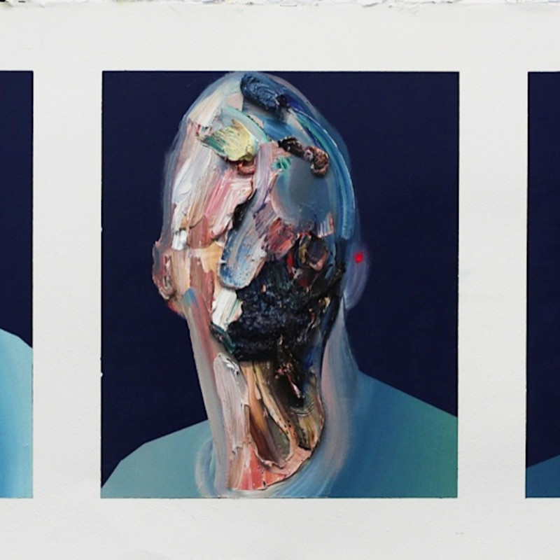 Ryan Hewett, Moldered Self Portraits, 2016