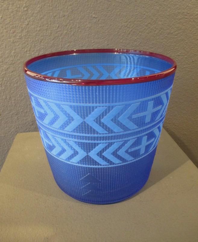 Preston Singletary, Tlingit Shelf Basket: #B18-132 Blue/Ruby