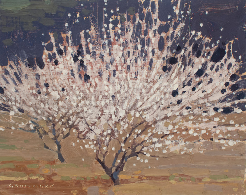 David Grossmann, Two Blossoming Plum Trees