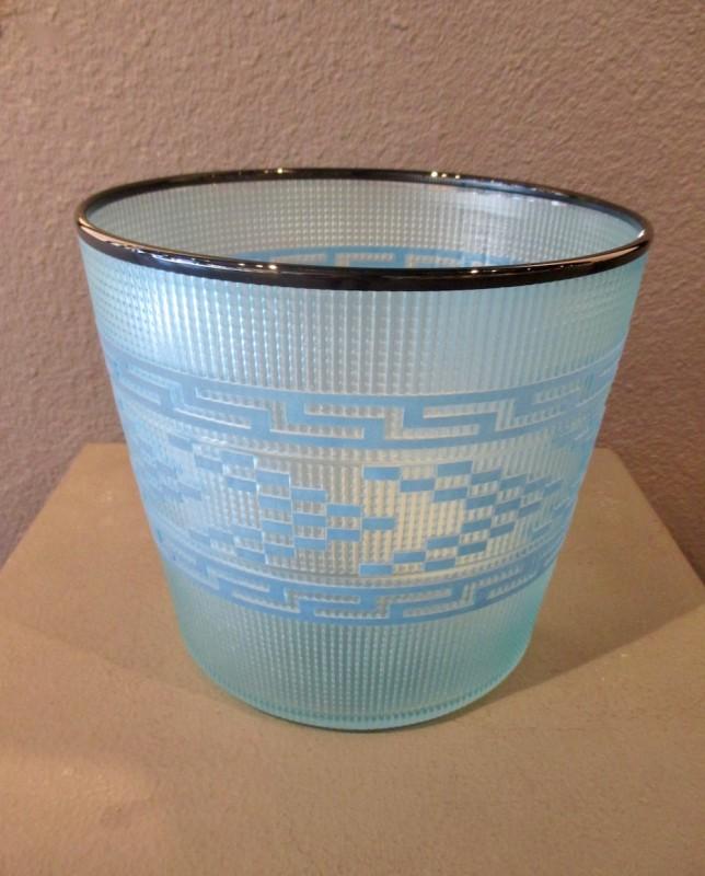 Preston Singletary, Tlingit Shelf Basket: #B18-130 Blue/Midnight