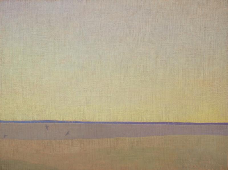 David Grossmann, Three Ravens with Blue Horizon