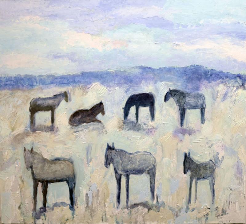 Theodore Waddell, Winter Horses #11