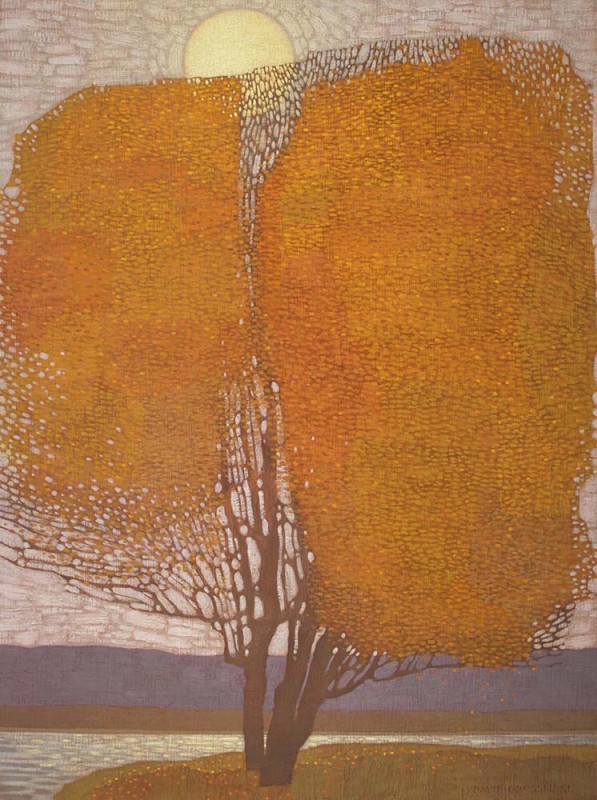 David Grossmann - Autumn Evening Cottonwood