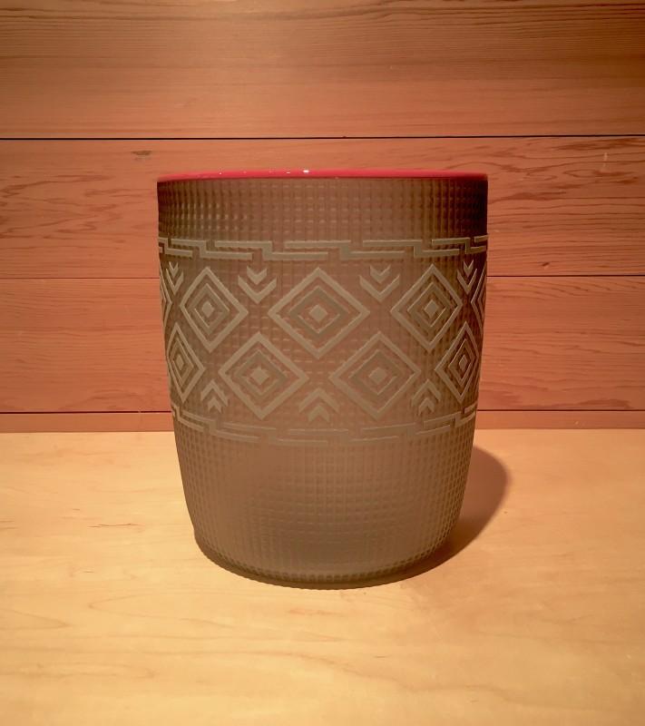 Preston Singletary, Tlingit Shelf Basket: #B16-31 Smoke/Dark Red