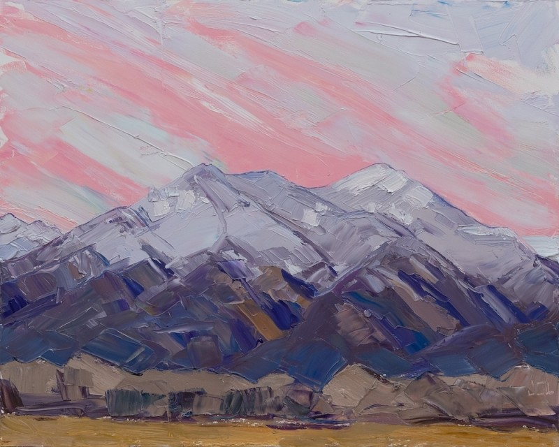 Jivan Lee, Taos Mountain, After Sunset