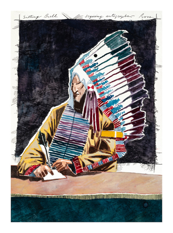 Thom Ross, Sitting Bull Signing Autographs