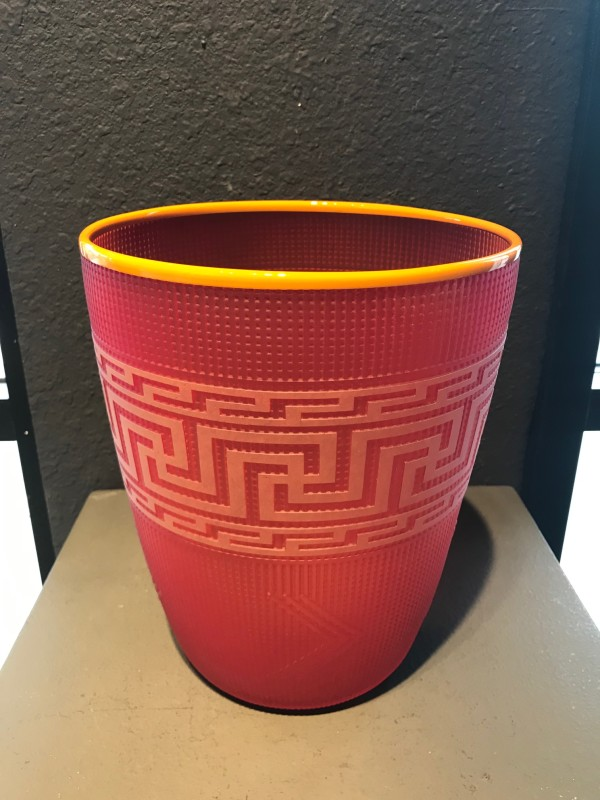 Preston Singletary, Tlingit Shelf Basket: #B19-20 Flame/Orange
