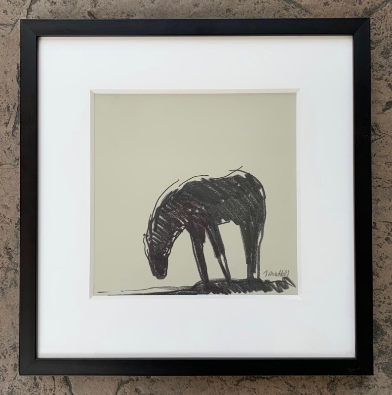 Works on Paper by Theodore Waddell, Camas Prairie Horses Dr. #8