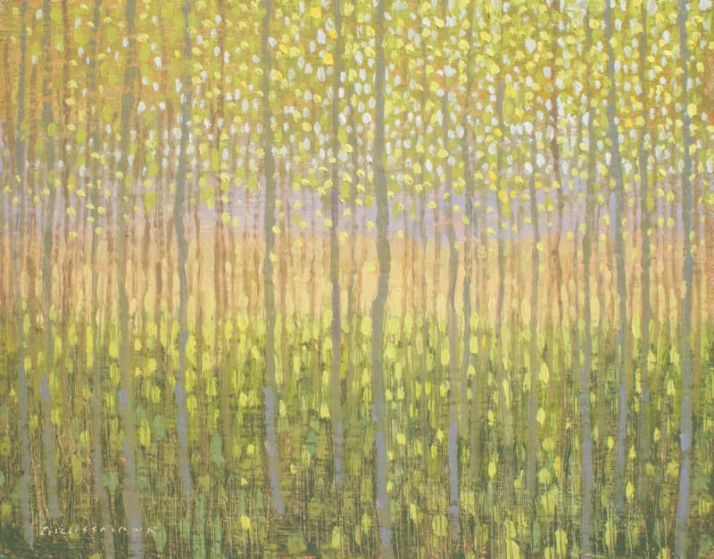 David Grossmann, View Through Summer Aspen Grove