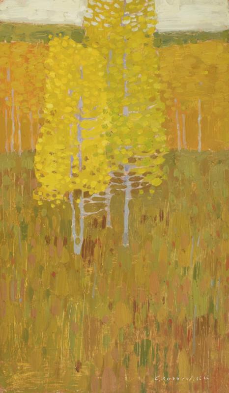 David Grossmann, Yellow Trees in Autumn Meadows