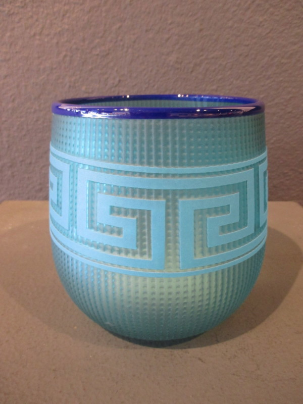 Preston Singletary, Tlingit Berry Basket: #B18-135 Sky Blue/Blue