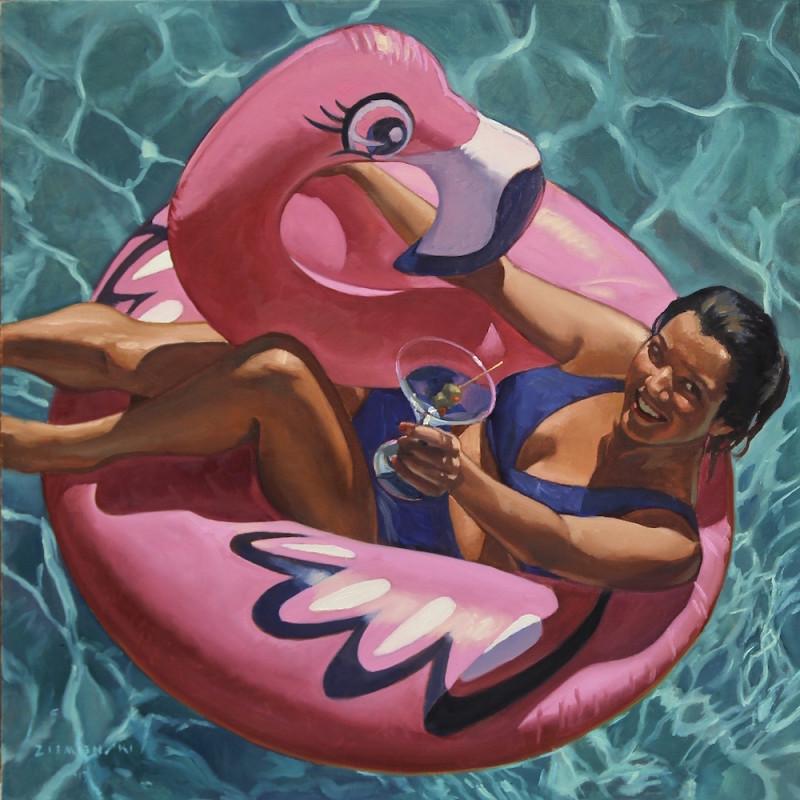 Dennis Ziemienski, Cocktail on a Pink Flamingo