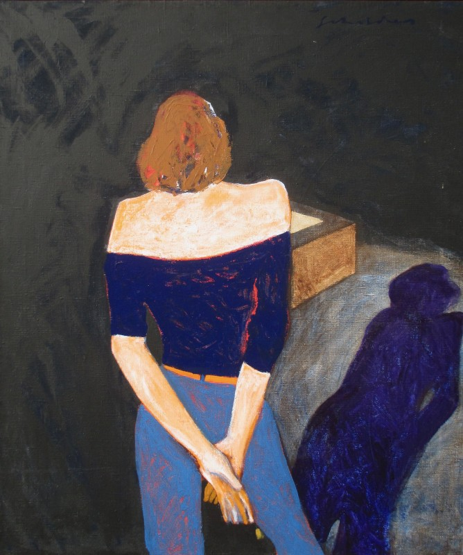 Fritz Scholder, Mystery Women with Shadow, 1989