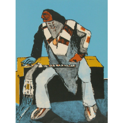 Fritz Scholder, Another Deco Indian, Artist Proof, 1978