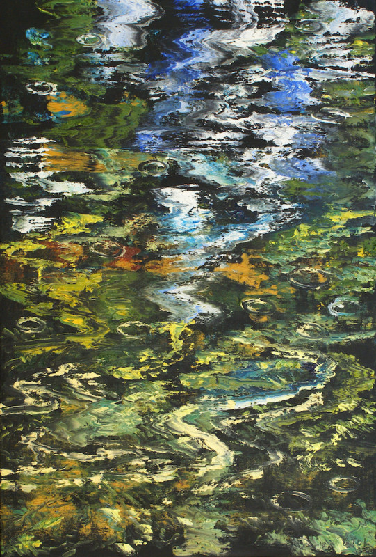 James Pringle Cook, Oak Creek Reflections Study- Raindrops #4