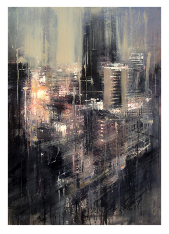 Peter Hall, Night time over Jo'burg City, 2018