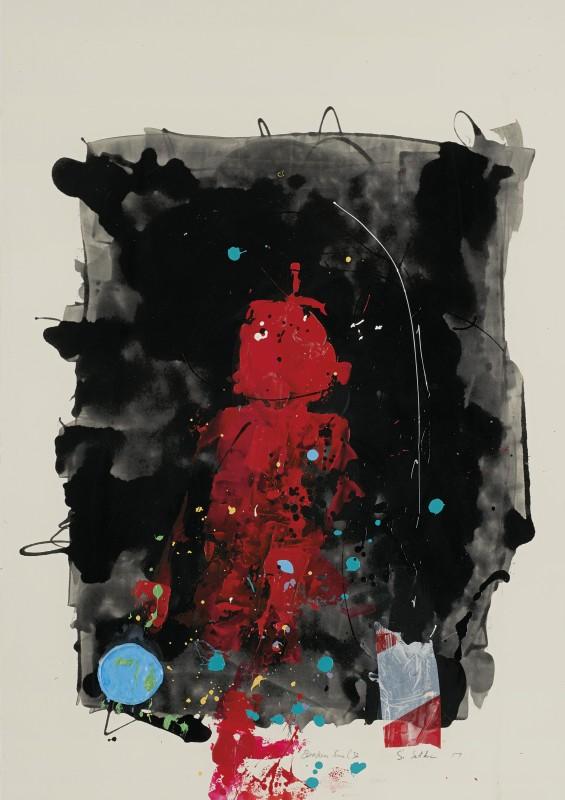 Daniel Stompie Selibe, Broken Line Series 32, 2017