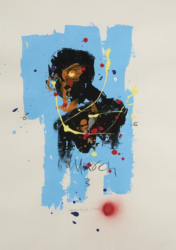 Daniel Stompie Selibe, Broken Line Series 18, 2017
