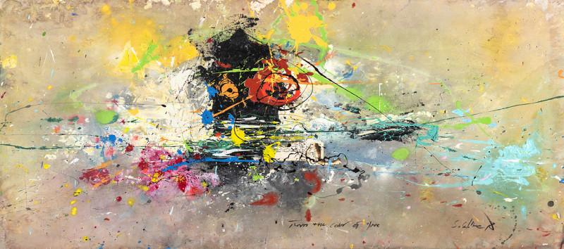 Daniel Stompie Selibe, Turn the colour of love , 2018