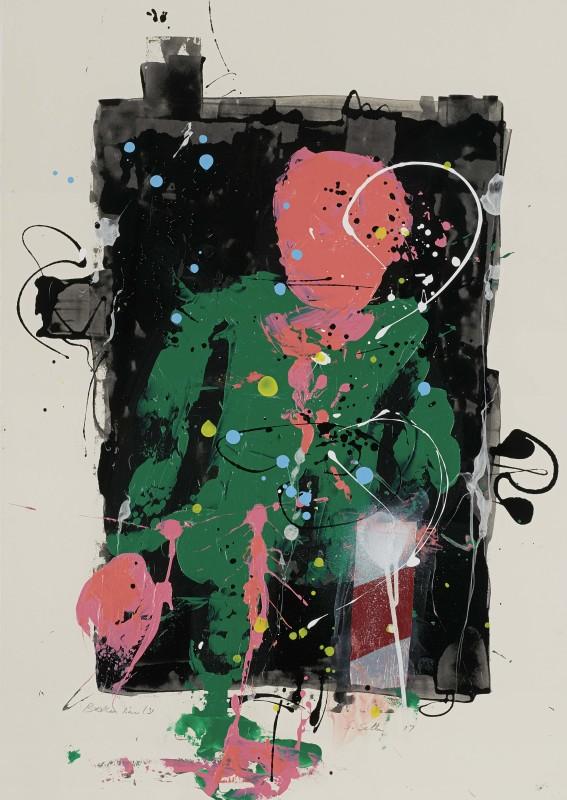 Daniel Stompie Selibe, Broken Line Series 30, 2017