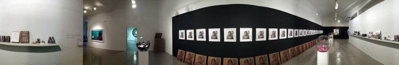 Carlos Betancourt, La Mascara Souvenirs Series, Untitled 1000 with Souvenirs, (exhibit view), 2005, 2005