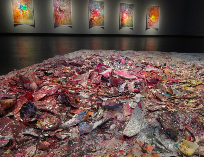 Carlos Betancourt, (Floor Installation) About the Ephemeral and Memory, 2013
