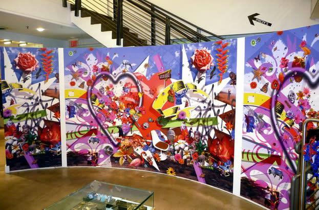 Carlos Betancourt, Lapidus Infinitus III, wallpaper mural, 2009