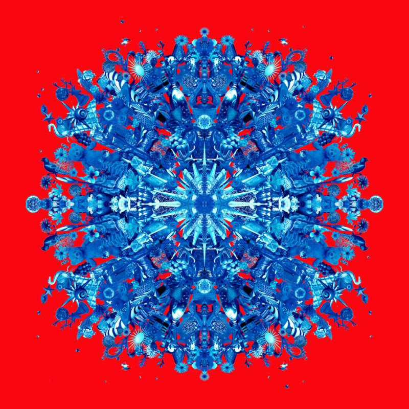 Carlos Betancourt, Re-Collections XII, azul y rojo, 2011