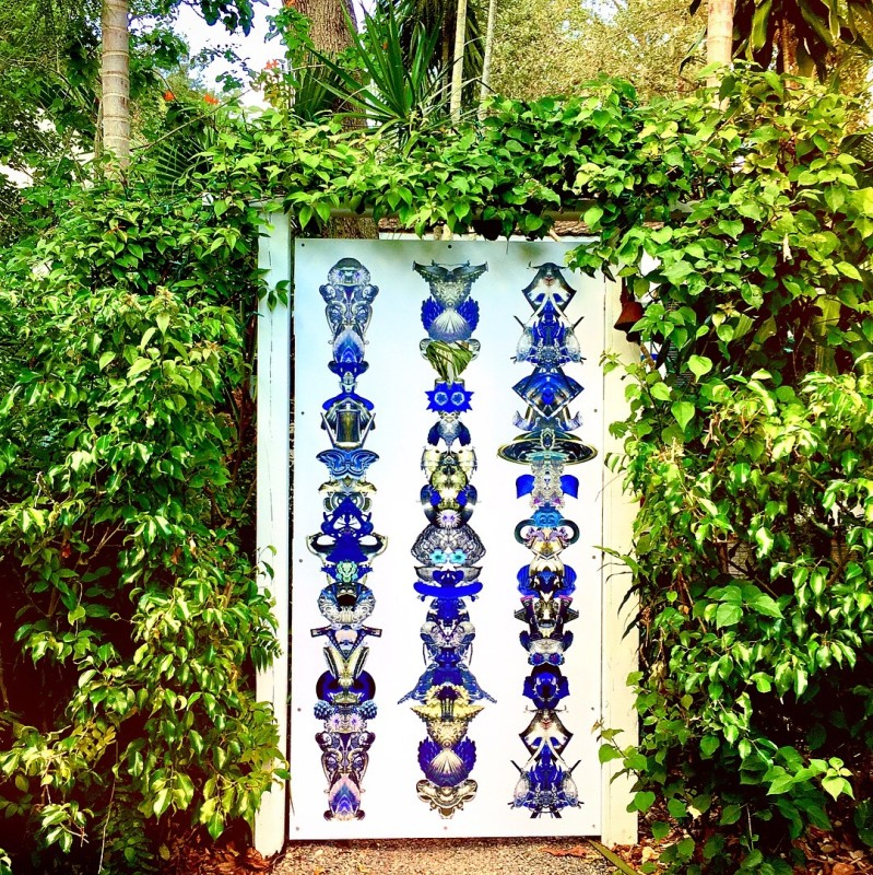 Carlos Betancourt, (Site specific gate commission) Amulet for Lights, 2012-2015